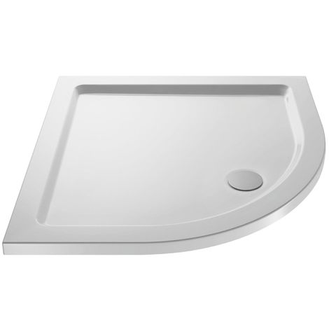 900 X 900 Slimline Quadrant Stone Resin Shower Tray With Free Waste