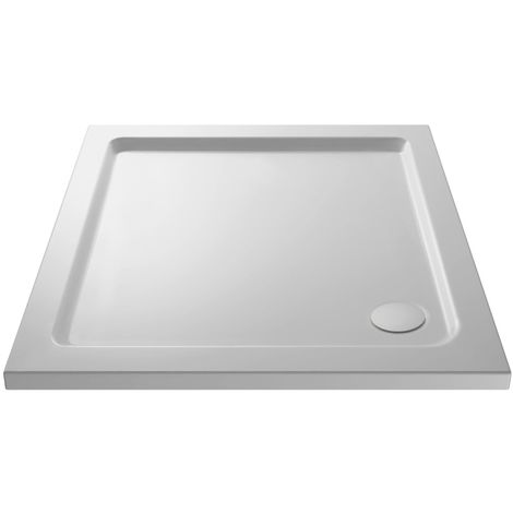 900 X 900 Slimline Square Stone Resin Shower Tray With Free Waste