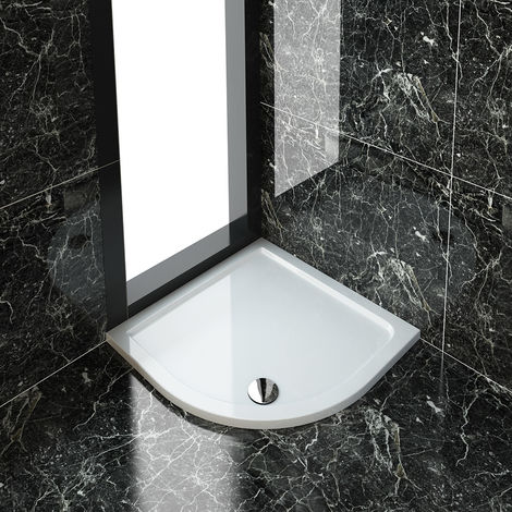 900 x 900 x 40 mm Quadrant Stone Tray for Bathroom Shower enclosure Corner Glass Door Waste trap
