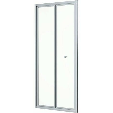 900 x 900mm Bi Fold Shower Door Enclosure Glass Screen 4mm Framed Acrylic Tray