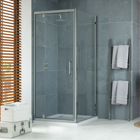 900 X 900mm Pivot Shower Enclosure With Tray And Waste