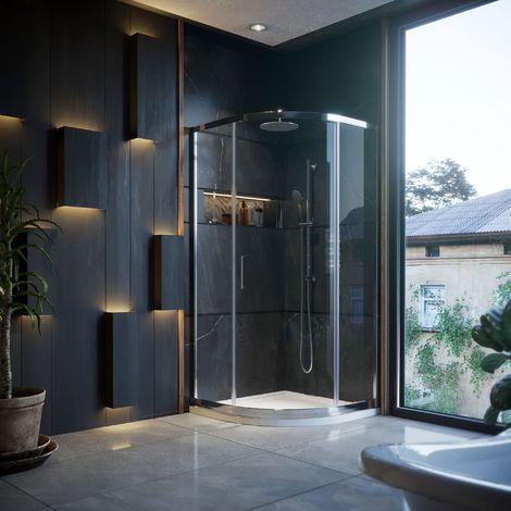 900 X 900mm Quadrant Shower Enclosure 1 Door