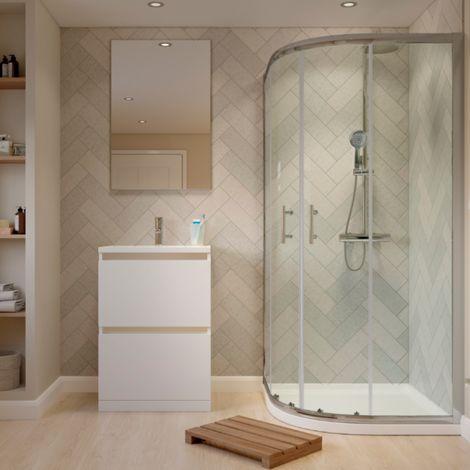 900 X 900mm Quadrant Shower Enclosure 2 Door & Tray