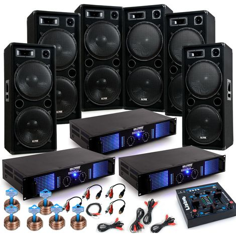 9000W Karneval Party Beschallung mit USB Mixer DJ-Jeck