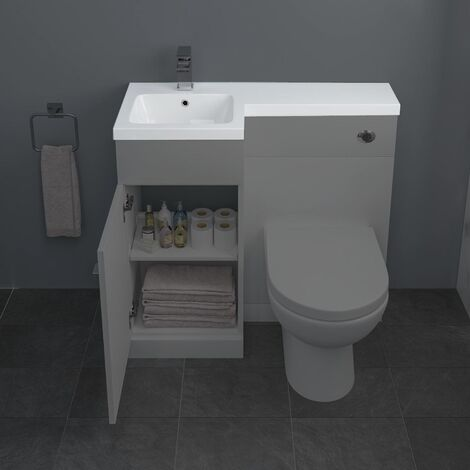 900mm Bathroom Basin Vanity Sink ONLY Left Hand High Quality Resin