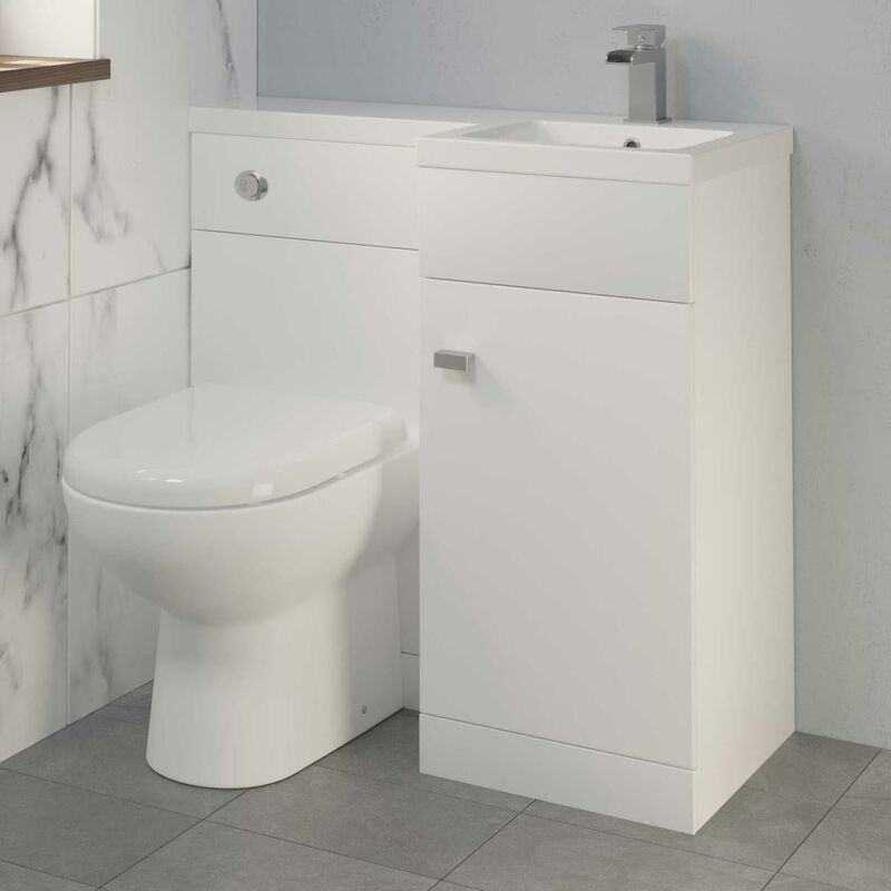 Awesome 900Mm Bathroom Vanity Unit Basin Toilet Combined Unit Rh White Home Interior And Landscaping Transignezvosmurscom