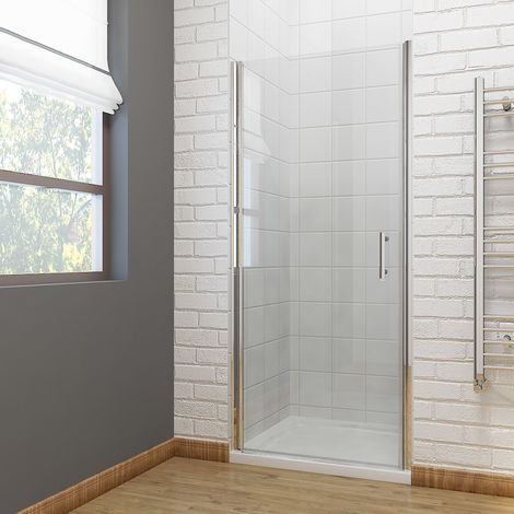 900mm Frameless Pivot Shower Door Glass Screen Reversible Shower Door