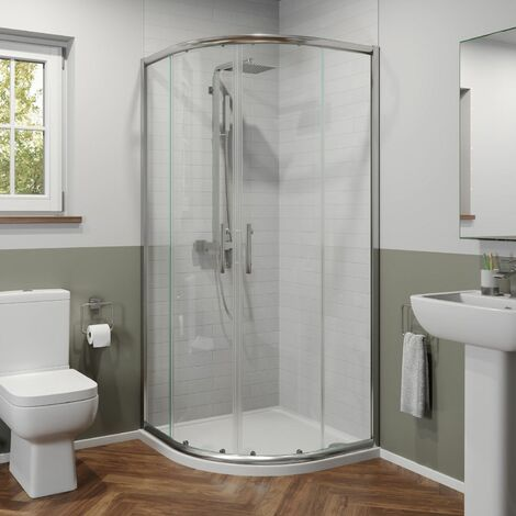 900mm x 900mm Quadrant Shower Enclosure 6mm Safety Glass Walk In Cubicle Framed
