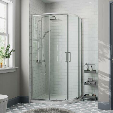 900mm x 900mm Quadrant Shower Enclosure Walk In Cubicle Framed 8mm Safety Glass