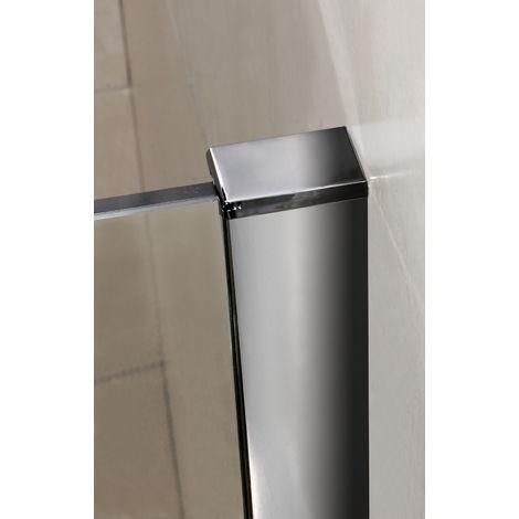 900x1950x6mm paroi de douche walk in verre anticalcaire avec barre fixation 1400mm