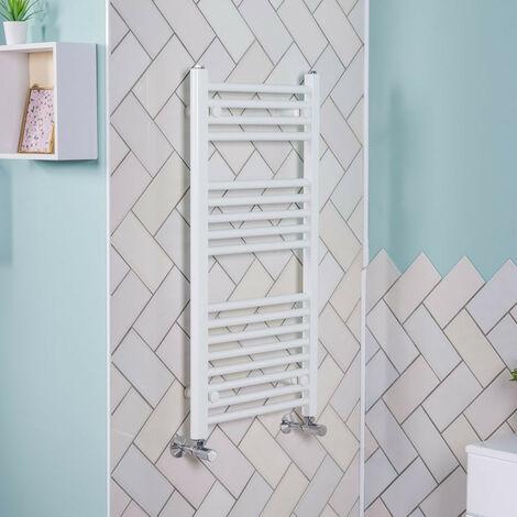900x450 Straight Central Heating Towel Rail Bathroom Heated Rad Radiator White