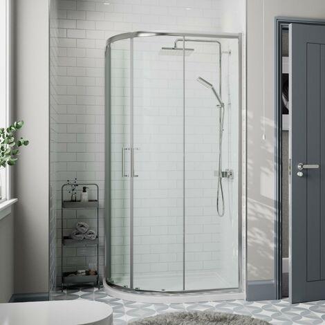 900x760mm LH Offset Quadrant Shower Enclosure 8mm Safety Glass