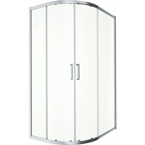 900x760mm LH Offset Quadrant Shower Enclosure 8mm Safety Glass