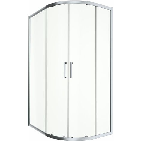 900x760mm RH Offset Quadrant Shower Enclosure 8mm Safety Glass