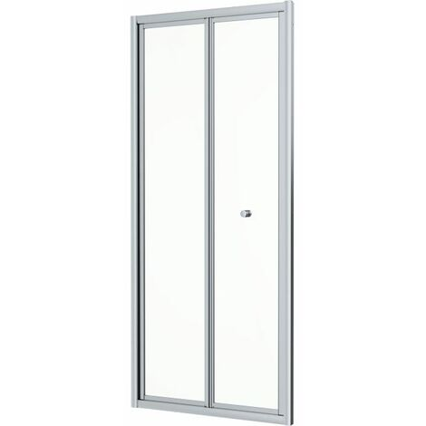 900x900mm Bi Fold Shower Door 4mm Enclosure Glass Screen Side Panel Acrylic Tray