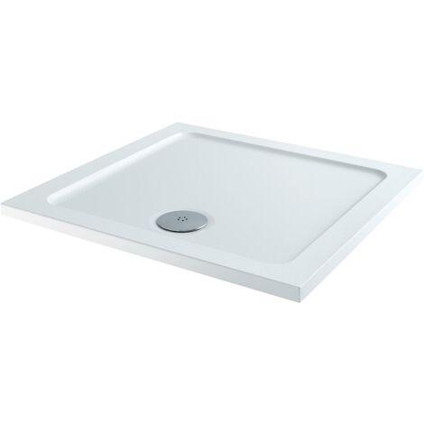 900x900mm Framed Hinged 8mm Bathroom Shower Door Enclosure Walk-In Tray & Waste