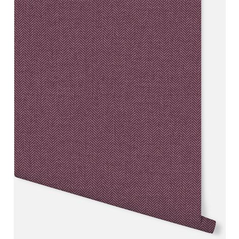 904208 - Herringbone Plum - Arthouse Wallpaper