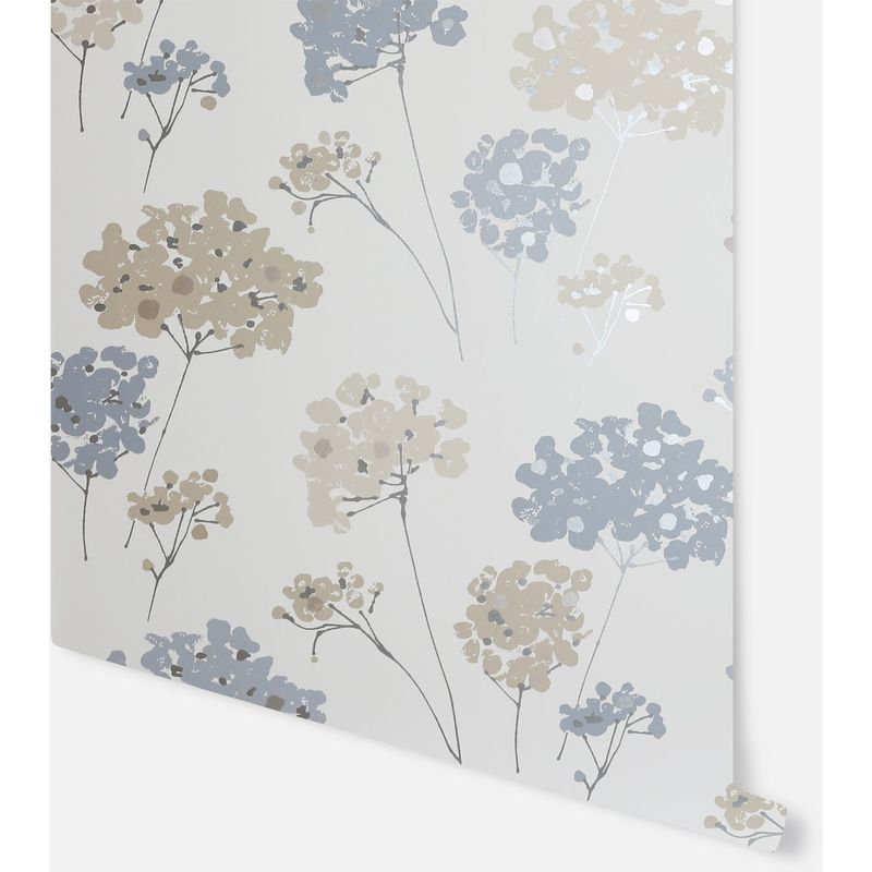 Image of Anya Floral Blue Wallpaper - Arthouse - 907500