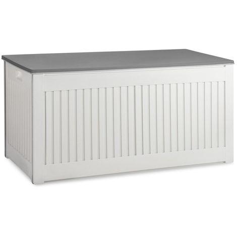 909 Outdoor Aufbewahrungsbox Für Draußen Garten Geeignet Auflagenbox Mit Deckel Wetterfest In Holzoptik Flexibel Einsetzbar Nutzvolumen 270 Liter