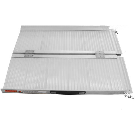 90cm 3FT 600 lbs Aluminum Folding Wheelchair Ramp for Doors Stairs