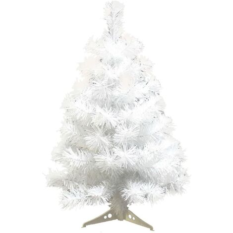 """main image of """"90cm Artificial Christmas Spain with Plastic Holder Christmas Tree for Home Decoration, Christmas (White)"""""""