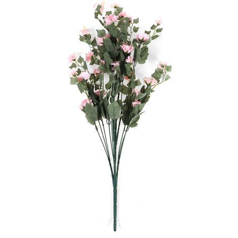 90cm artificielle fleur d'hortensia simulation fleur en soie fausse fleur pour la maison de mariage décoration de jardin d'anniversaire (rose, 1 x bouquet (16 rose))