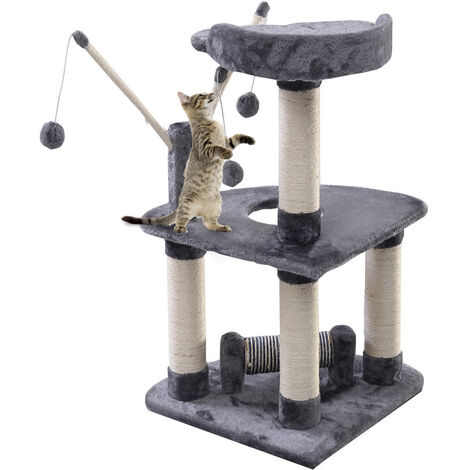 90CM Cat Tree Scratching Post Activity Centre Bed Toys