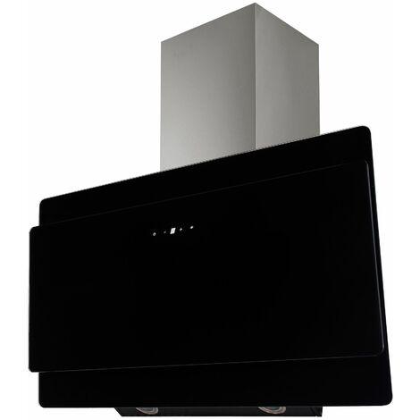 90cm ventilateur extracteur acier inoxydable verre noir Headroom