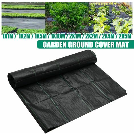 90gsm Resistant Weed Control Fabric Membrane Garden Ground Cover Mat Landscape (1mx1m)