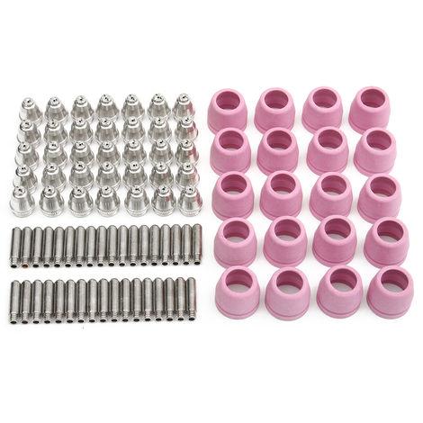 90pcs 60A Antorcha de plasma Electrodo Boquilla de cerámica LTP5000D LTPDC2000 LTPAC2500 LAVENTE