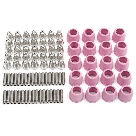 90pcs 60A Plasma Torche Electrode Buse Céramique Pr LTP5000D LTPDC2000 LTPAC2500 Mohoo