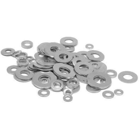 90pcs M10 Round Washer Metal Screw Zinc Plated Steel Gasket Ultra-Thin