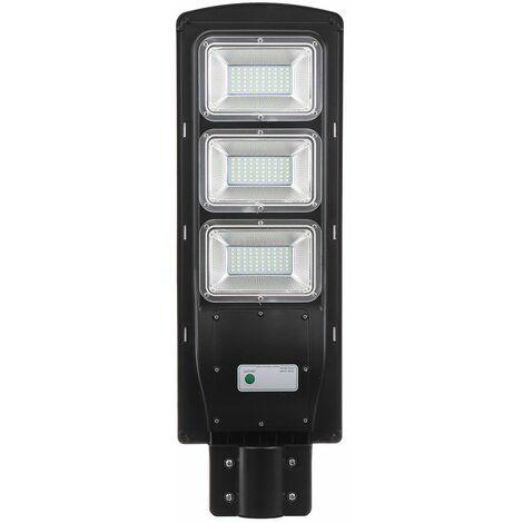 90W 180 LED Solar Street Light PIR Motion Sensor Outdoor Wall Garden Lamp IP67 WASHED - Noir