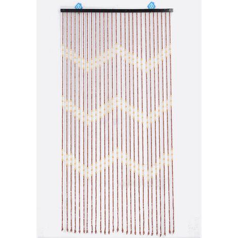 90x175cm Cortina de puerta de madera de bambú con cuentas de línea 27