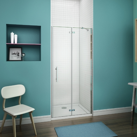 90x187cm cabine de douche charni re porte de douche. Black Bedroom Furniture Sets. Home Design Ideas