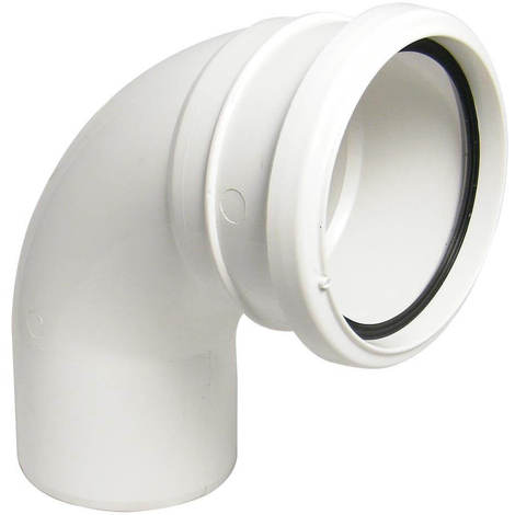 92.5 Degree Bend Single Socket White Soil