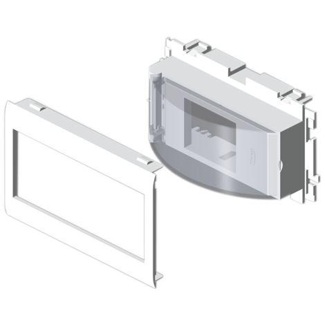93 Adaptador 2 módulos DIN blanco RAL9010 65 U24X UNEX 93648-2