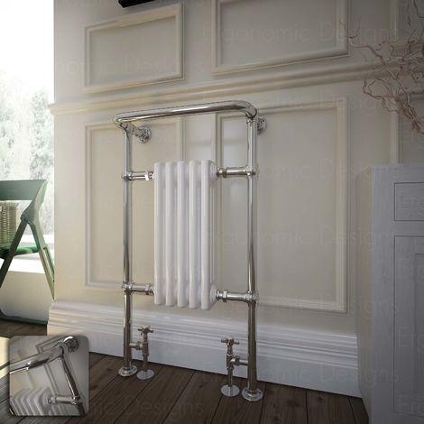 930 X 540 Mm Traditional Bathroom Brass Heated Towel Radiator Rail Rad