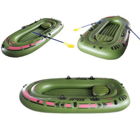 94.4x53.9 '' goma inflable kayak barco de pesca bomba de aire remos cuerda 3 persona