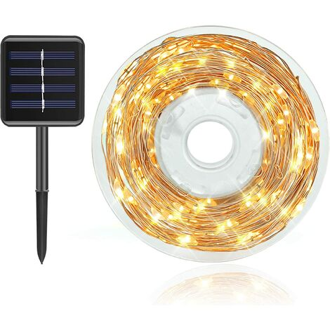 94ft-240LED Solar String Lights Outdoor, Bright Solar Powered Fairy Lights 8 Modes Waterproof Outdoor/Indoor Starbright Solar Lights for Patio, Wedding, Yard, Party, Garden (Warm White)