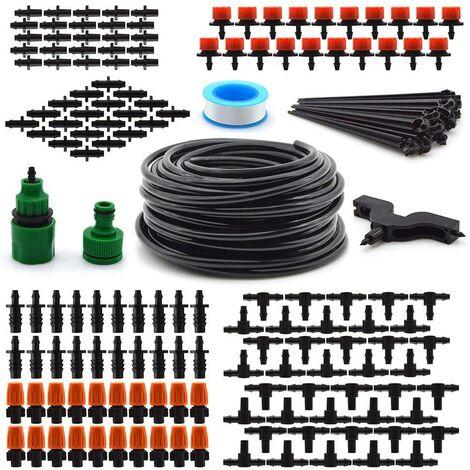 95 PCS Système d'irrigation 40 goutte + Kit 30M Tuyau d'arrosage automatique SwagX