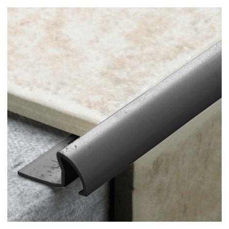 9.5mm Quadrant Pro Tile Trim Black - PVC