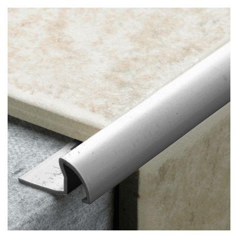 9.5mm Quadrant Pro Tile Trim Grey - PVC