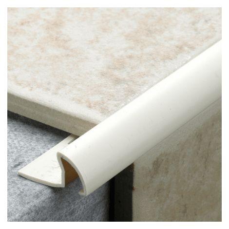 9.5mm Quadrant Pro Tile Trim White - PVC