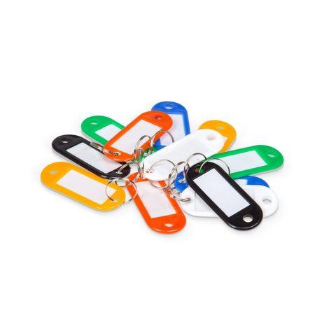 96 Stück Schlüsselschilder bunt mit Beschriftungsfeld