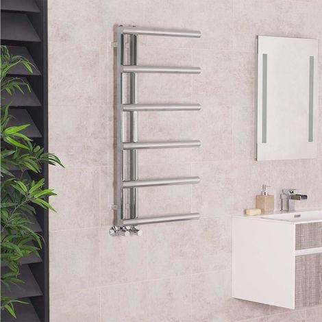 988x500 Chrome Designer Heated Towel Rail Rad Radiator Ladder for Bathroom