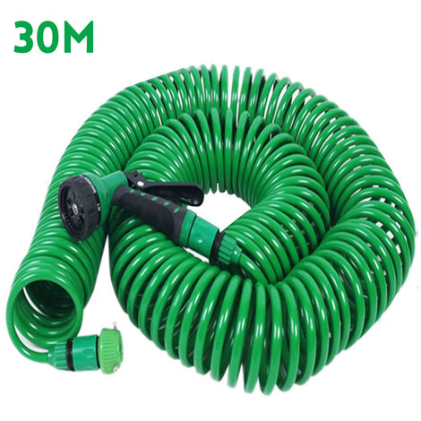 """main image of """"98FT 30M Retractable Coil Hose Pipe Expandable Reel Water Spray Nozzle Patio"""""""