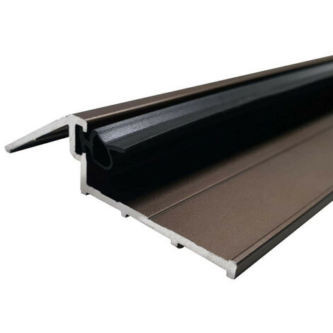 99 cm entrance door sill with seal - bronze