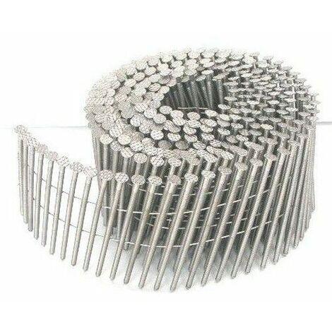 9900 CLOUS BOSTITCH ROULEAUX PLATS 15/16° 2.5 x 50 crantés acier brut
