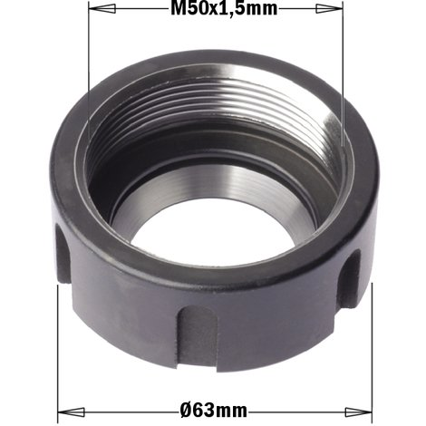 "992.383 992 - CLAMPING NUTS FOR CHUCKS FOR ""ER40"" PRECISION COLLETS"